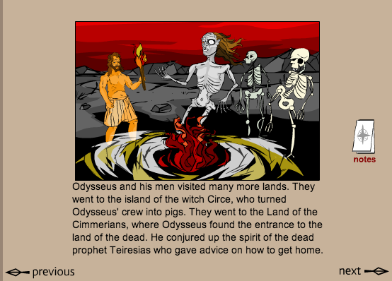 examples of imagery in the odyssey